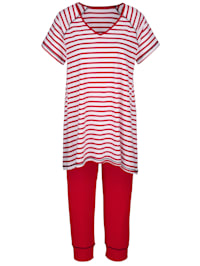 Pyjama motif rayé