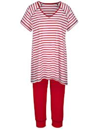 Pyjamas med randig överdel