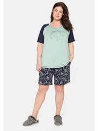 Schlafanzugset als Kurzarmshirt und Shorts