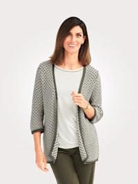 Vest van minimal jacquard