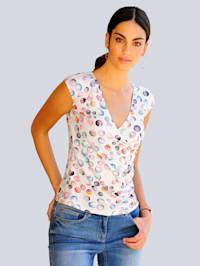 T-shirt à motif pois coloré