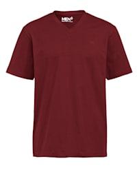 T-shirt col en V en pur cootn