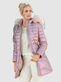 Gewatteerde jas in metallic look