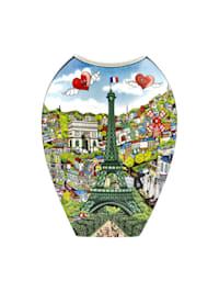 Vase Charles Fazzino - Visit Paris / Lights of London