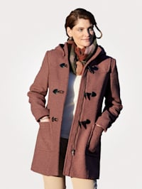 Duffle-coat avec capuche déboutonnable