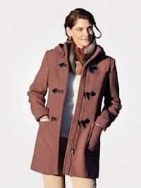 Duffle coat with a detachable hood