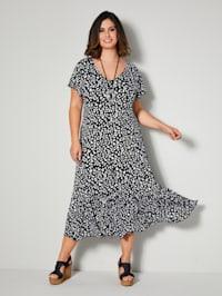 Jersey jurk met volant