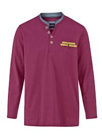 Henley tričko s kontrastním stojatým límcem