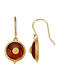 Boucles d'oreilles avec pierres d'ambre