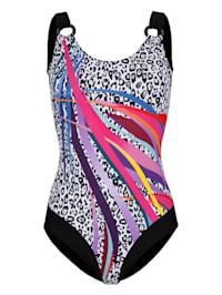 Plavky s módním mixem vzorů