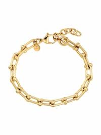 """Armband für Damen, Stainless Steel IP Gold, Fantasiekette 19+3 cm """"Link"""" von NOELANI"""