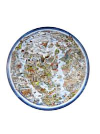 """Schale Charles Fazzino - """"For a better world"""""""