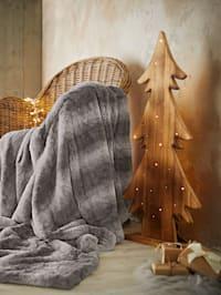 Puinen, led-valaistu koristepuu