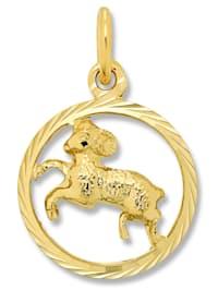 Damen Schmuck Sternzeichen Anhänger Widder aus 333 Gelbgold