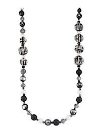 Halskette mit Glassteinen
