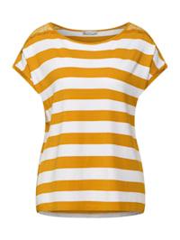 T-Shirt mit Spitzen Details