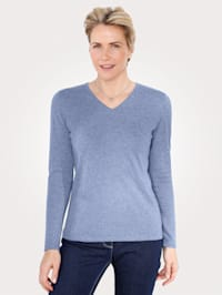 Jumper with a touch of Merino wool