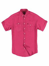 Kurzarm-Hemd aus Leinen