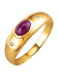 Ring i sølv 925, gullfarget