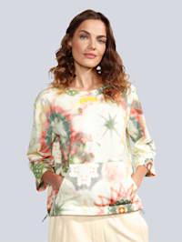 Sweatshirt im modischen Batikdruck
