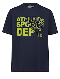 T-shirt med text fram