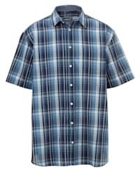 Kortärmad skjorta i rutigt