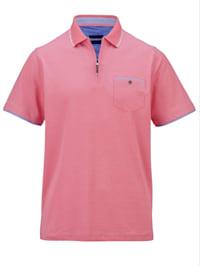 Poloshirt in zweifarbiger Piqué Qualität