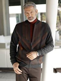 Vest met contrasterend patroon