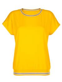 Shirt mit sportiven Rippbündchen