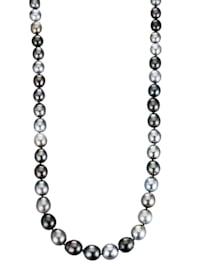 Collier en perles de culture de Tahiti de forme baroque