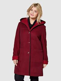 Vlnený kabát s kapucňou