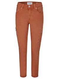 Ankle-Jeans 'Ornella Cargo' mit Reißverschlusstaschen