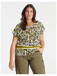 Blusenshirt mit Blätter-Print