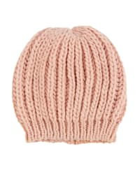 Bonnet maille en laine mélangée