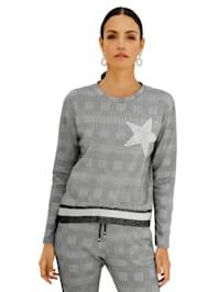 Sweatshirt mit Karo-Muster