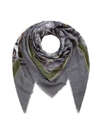 Tuch mit trendigem Animal-Print aus Modal, Baumwolle & Wolle
