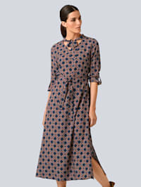 Kleid mit modischer Schluppe am Ausschnitt