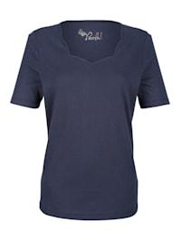 T-shirt à encolure raffinée