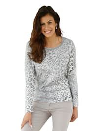 Pull-over à motif maille