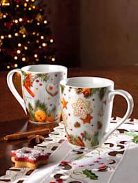 2tlg. Kaffeebecherset 'Lebkuchen'