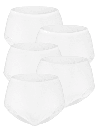 High rise briefs with lace detailing