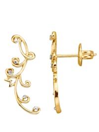 Boucles d'oreilles ornées de diamants