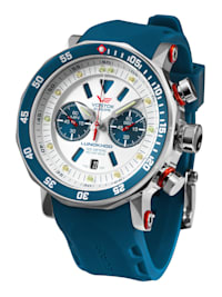 Herrenuhr Chronograph Lunokhod 2 mit blauem Band