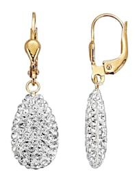 Boucles d'oreilles avec cristaux