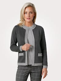 Cardigan with textured knit detailing