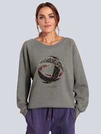 Sweatshirt mit großem Paillettenmotiv