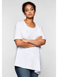 Shirt mit abgeschrägtem Saum