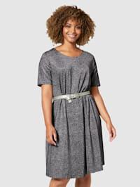 Džersej šaty z lesklého materiálu