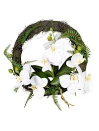 Orchideenkranz, weiß