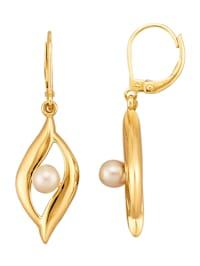 Boucles d'oreilles avec perles de culture blanches